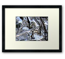 Branches On Ice Framed Print