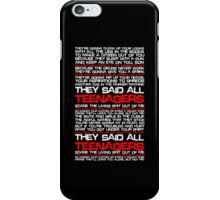 Teenagers Lyrical (My Chemical Romance) iPhone Case/Skin