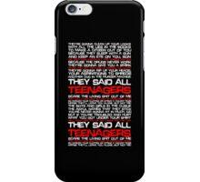 Teenagers Lyrical (My Chemical Romance) iPhone Case/Skin