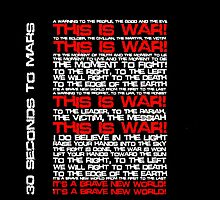 This Is War (30 Seconds To Mars) by Dsavage94