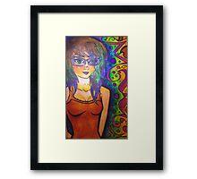 Punk brown eyed girl Framed Print