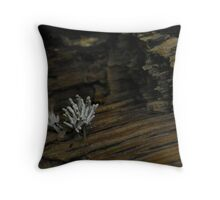 White Stems Throw Pillow
