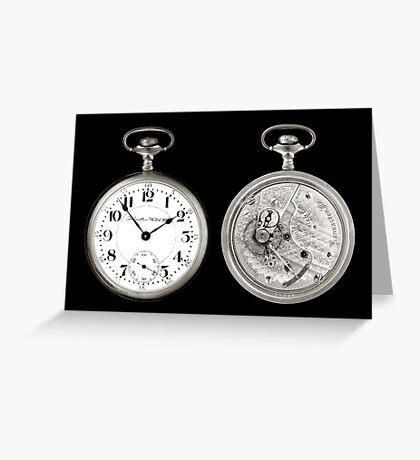 antique pocketwatch Greeting Card