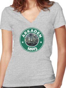Arkaden Women's Fitted V-Neck T-Shirt