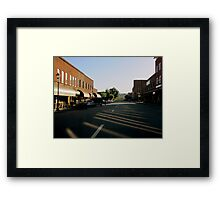 Reflections On Main St., USA Framed Print