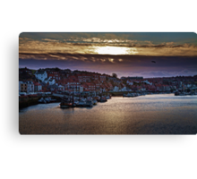 Sunset over the Old Town Canvas Print