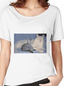 PAPA KITTY BABY KITTY Women's Relaxed Fit T-Shirt