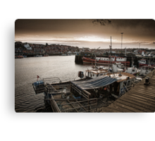 The harbour side at dusk Canvas Print