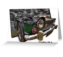 Triumph TR 5 (H.D.R. and O.O.B.) Greeting Card