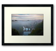 Early morning mist over the river Framed Print