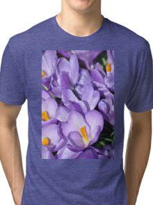 Violet Blossoms Tri-blend T-Shirt