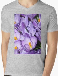 Violet Blossoms Mens V-Neck T-Shirt