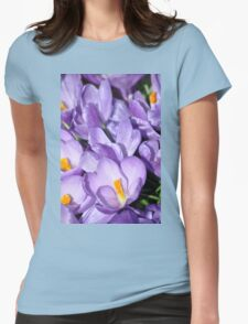 Violet Blossoms Womens Fitted T-Shirt