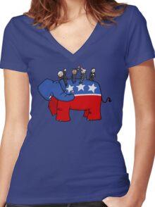 GOP Elephant Women's Fitted V-Neck T-Shirt