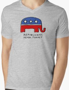 Republicans Never Forget Mens V-Neck T-Shirt