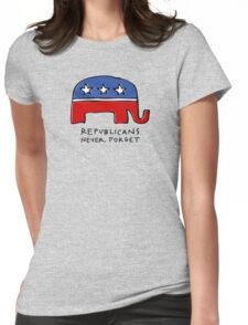 Republicans Never Forget Womens Fitted T-Shirt
