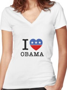 I Heart Obama Women's Fitted V-Neck T-Shirt