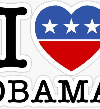 I Heart Obama Sticker