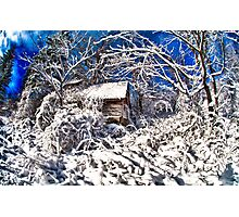 Spooky Haunted Abandoned House Photographic Print