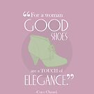 Coco Chanel Shoe Quote iPhone Case by Laura McDonald