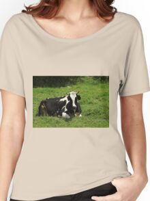 Holstein Cow Lying Down Women's Relaxed Fit T-Shirt