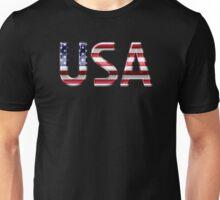 USA - American Flag - Metallic Text Unisex T-Shirt