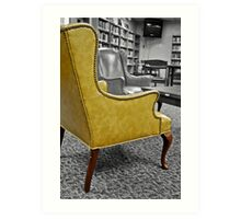 Yellow Armchair Art Print