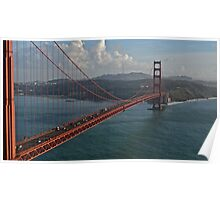 Golden Gate Bridge from Marin to San Francisco Poster