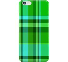 Hot Green/Blue Plaid iPhone, iPod Cases iPhone Case/Skin