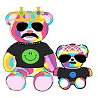 Rainbow Bear with shirts by Kelsie Anderson
