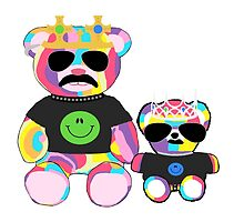 Rainbow Bear with shirts by KelsieLAnderson