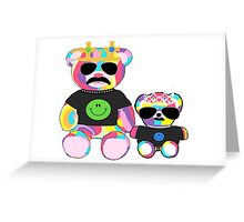 Rainbow Bear with shirts Greeting Card