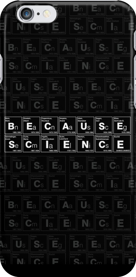 BECAUSE SCIENCE! (white) by Vincent Carrozza