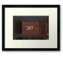Two 45 Framed Print