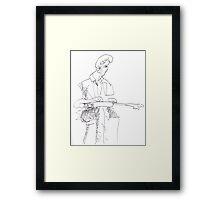 Slide player - Rick Dempster Framed Print