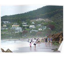 Hot Water Beach, Coromandel Peninsula, North Island, New Zealand Poster