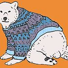 Brad The Hipster Polar Bear by Samfooey
