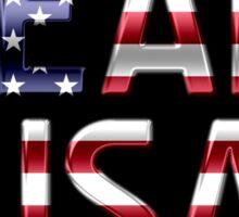 Team USA - American Flag - Metallic Text Sticker