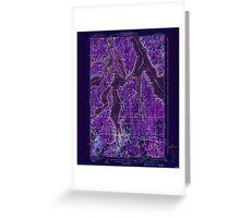 USGS Topo Map Washington State WA Olympia 242940 1937 62500 Inverted Greeting Card