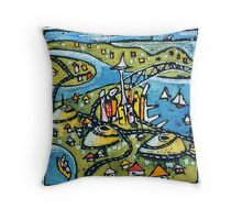 Auckland - harbours, volcanoes and all Throw Pillow