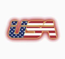 USA - Flag Logo - Glowing Kids Tee