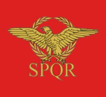 SPQR Roman Empire T-Shirt by Chainmall