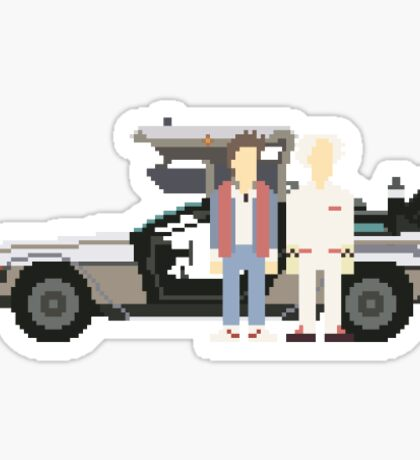 Back To The Future Pixels Sticker