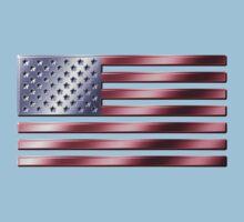 American Flag - USA - Metallic One Piece - Short Sleeve