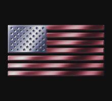 American Flag - USA - Metallic One Piece - Long Sleeve