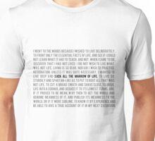 Walden (black) Unisex T-Shirt