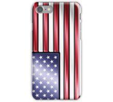 American Flag 2 - USA - Metallic iPhone Case/Skin