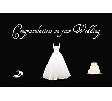 Congratulations on Your Wedding Photographic Print