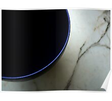 Blue bowl on marble Poster