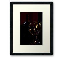 Red wine & glasses Framed Print